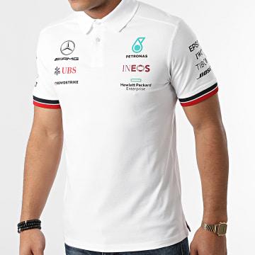 AMG Mercedes - Polo Manches Courtes MAPF1 701202216 Blanc