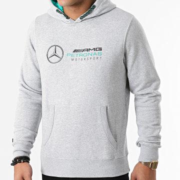 AMG Mercedes - Sweat Capuche Logo 141101007 Gris Chiné