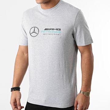 AMG Mercedes - Tee Shirt Large Logo 141101016 Gris Chiné