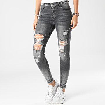 Girls Outfit - Jean Slim Femme A191 Gris