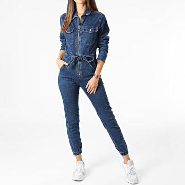 Girls Outfit - Combinaison Jean Femme B1201 Bleu Denim