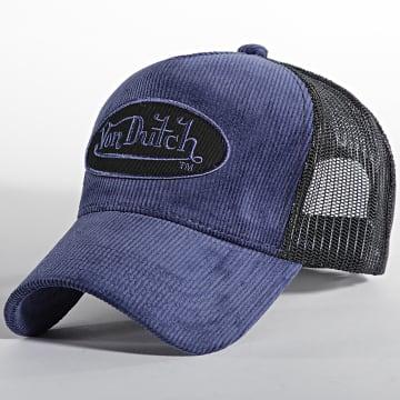 Von Dutch - Casquette Trucker Velvet Bleu Marine