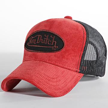 Von Dutch - Casquette Trucker Velvet Rouge