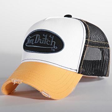 Von Dutch - Casquette Trucker Summer Orange Blanc