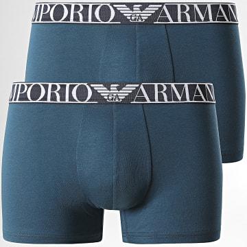 Emporio Armani - Lot De 2 Boxers 111769 Bleu