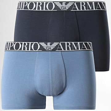 Emporio Armani - Lot De 2 Boxers 111769 Bleu Marine