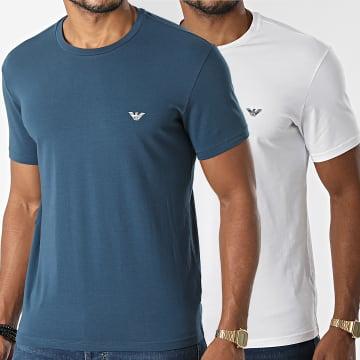 Emporio Armani - Lot De 2 Tee Shirt 111267-1A720 Bleu Blanc