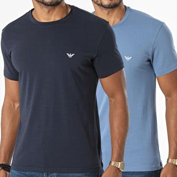 Emporio Armani - Lot De 2 Tee Shirt 111267-1A720 Bleu Clair Bleu Marine
