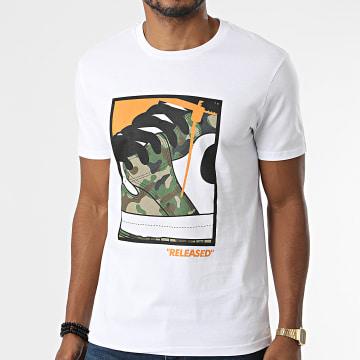 Luxury Lovers - Tee Shirt Released Camouflage Blanc