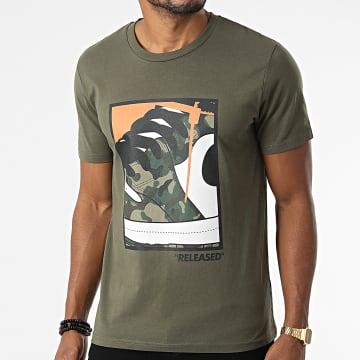 Luxury Lovers - Tee Shirt Released Camouflage Vert Kaki