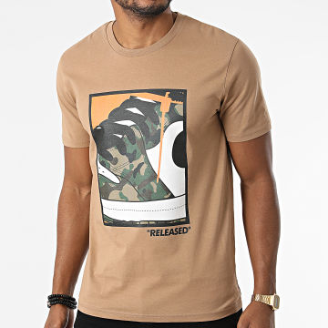 Luxury Lovers - Tee Shirt Released Camouflage Camel