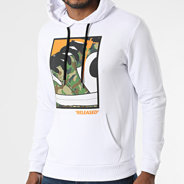 Luxury Lovers - Sweat Capuche Released Camouflage Blanc