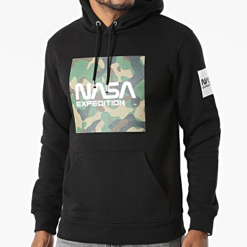 NASA - Sweat Capuche Worm Expedition Camouflage Noir