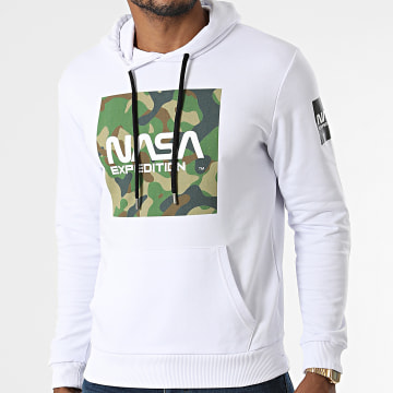 NASA - Sweat Capuche Worm Expedition Camouflage Blanc