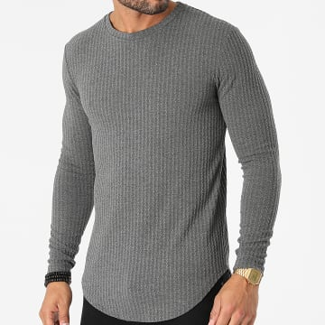 Uniplay - Tee Shirt Manches Longues Oversize UY719 Gris Chiné