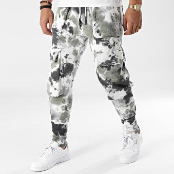 2Y Premium - Pantalon Jogging ES8080 Blanc Gris Vert Kaki