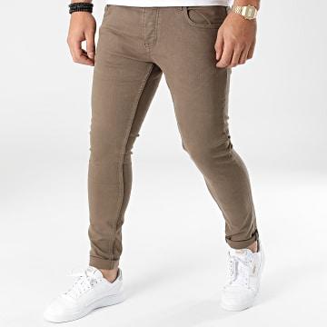 2Y Premium - Jean Skinny B6349 Taupe