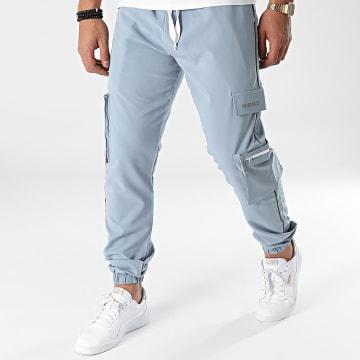 2Y Premium - Pantalon Jogging P2026 Bleu Clair Réfléchissant
