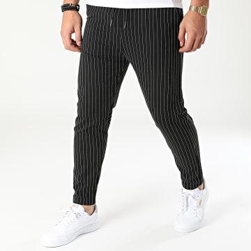 Classic Series - Pantalon A Rayures DP7030 Noir