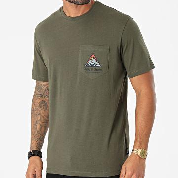 Only And Sons - Tee Shirt Ben Life Vert Kaki