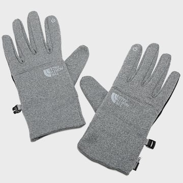 The North Face - Gants Etip Recycled Gris Chiné