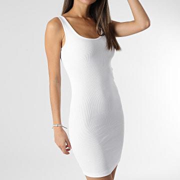 Only - Robe Débardeur Femme Clean Life Blanc