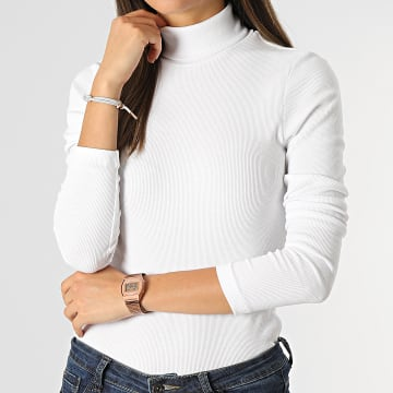 Only - Top Manches Longues Femme Clean Life Blanc