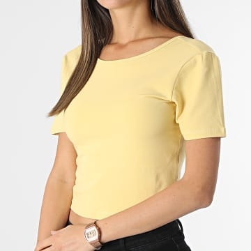 Only - Top Crop Femme Pure Life Jaune