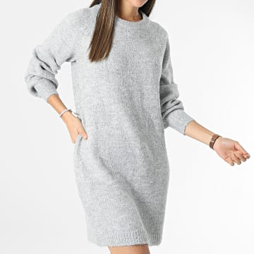 Only - Robe Pull Femme Zolte Gris Chiné