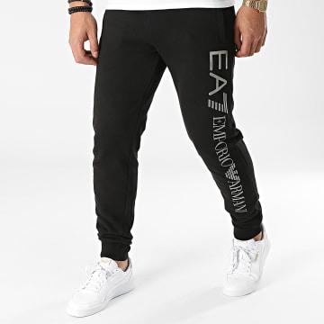 EA7 Emporio Armani - Pantalon Jogging 8N99B5-PJ07Z Noir Argenté