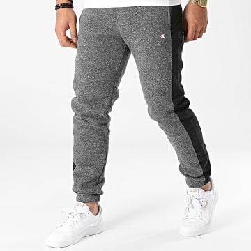 Champion - Pantalon Jogging A Bandes 216610 Gris Anthracite Chiné
