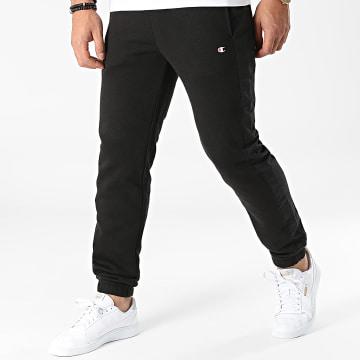 Champion - Pantalon Jogging A Bandes 216610 Noir