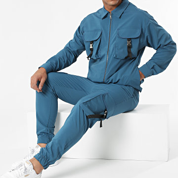 Classic Series - Ensemble Pantalon Cargo Chemise 8129-2516 Bleu Marine