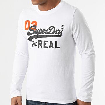 Superdry - Tee Shirt Manches Longues Vintage Logo AC M6010546A Blanc