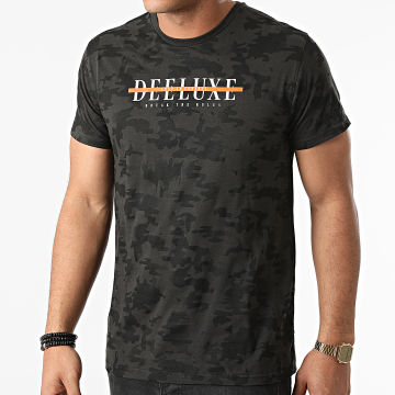 Deeluxe - Tee Shirt Camouflage Weaker Gris Anthracite Noir