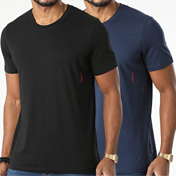 HUGO - Lot De 2 Tee Shirts Twin 50408203 Noir Bleu Marine