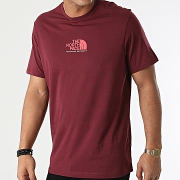 The North Face - Tee Shirt Fine Alpine Equipment 3 A4SZULA9 Bordeaux