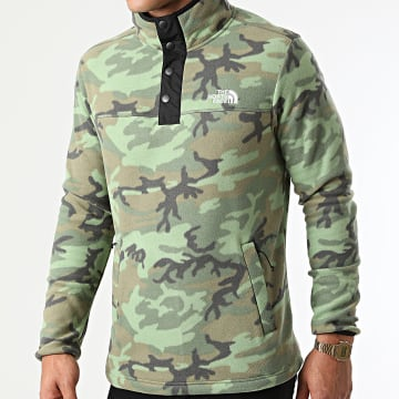 The North Face - Veste Polaire Outdoor A55HM Vert Clair Camouflage