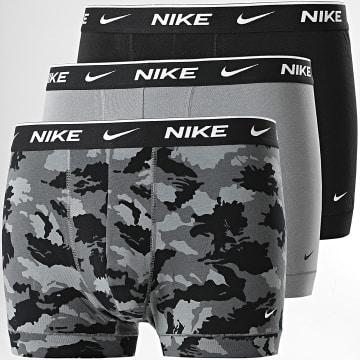 Nike - Lot De 3 Boxers Everyday Cotton Stretch KE1008 Noir Gris Camouflage