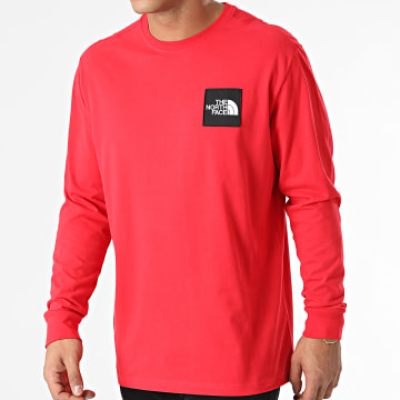 The North Face - Tee Shirt Manches Longues Boruda A4C9I Rouge