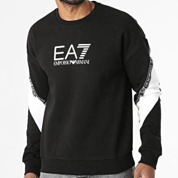 EA7 Emporio Armani - Sweat Crewneck A Bande 6KPM28 Noir