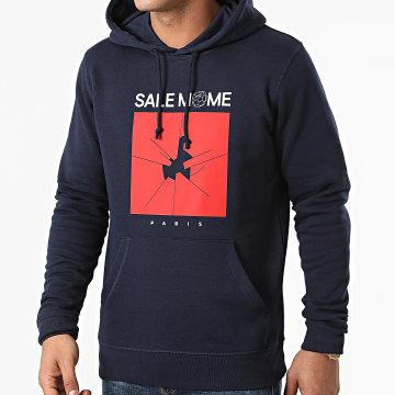 Sale Môme Paris - Sweat Capuche Foot Bleu Marine
