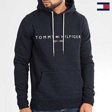 https://laboutiqueofficielle-res.cloudinary.com/image/upload/v1627566657/Marketing/WATERMARK%20svg/2logo_tommy_hilfiger.svg Tommy Hilfiger - Sweat Capuche Core Tommy Logo 0752 Bleu Marine