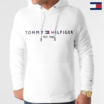 https://laboutiqueofficielle-res.cloudinary.com/image/upload/v1627566657/Marketing/WATERMARK%20svg/2logo_tommy_hilfiger.svg Tommy Hilfiger - Sweat Capuche Tommy Logo 1599 Blanc