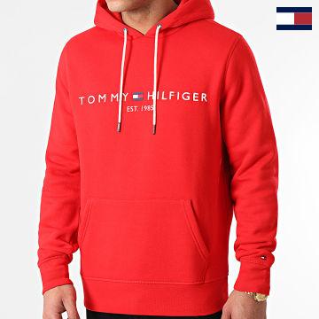 https://laboutiqueofficielle-res.cloudinary.com/image/upload/v1627566657/Marketing/WATERMARK%20svg/2logo_tommy_hilfiger.svg Tommy Hilfiger - Sweat Capuche Tommy Logo 1599 Rouge