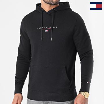 https://laboutiqueofficielle-res.cloudinary.com/image/upload/v1627566657/Marketing/WATERMARK%20svg/2logo_tommy_hilfiger.svg Tommy Hilfiger - Sweat Capuche Essential Tommy 7382 Noir