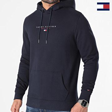 https://laboutiqueofficielle-res.cloudinary.com/image/upload/v1627566657/Marketing/WATERMARK%20svg/2logo_tommy_hilfiger.svg Tommy Hilfiger - Sweat Capuche Essential Tommy 7382 Bleu Marine