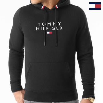 https://laboutiqueofficielle-res.cloudinary.com/image/upload/v1627566657/Marketing/WATERMARK%20svg/2logo_tommy_hilfiger.svg Tommy Hilfiger - Sweat Capuche Stacked Tommy Flag 7397 Noir