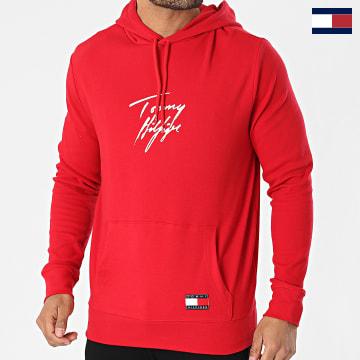 https://laboutiqueofficielle-res.cloudinary.com/image/upload/v1627566657/Marketing/WATERMARK%20svg/2logo_tommy_hilfiger.svg Tommy Hilfiger - Sweat Capuche Logo Signature 2191 Rouge