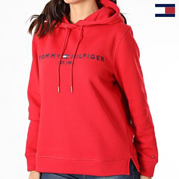 https://laboutiqueofficielle-res.cloudinary.com/image/upload/v1627566657/Marketing/WATERMARK%20svg/2logo_tommy_hilfiger.svg Tommy Hilfiger - Sweat Capuche Femme Essential 6410 Rouge